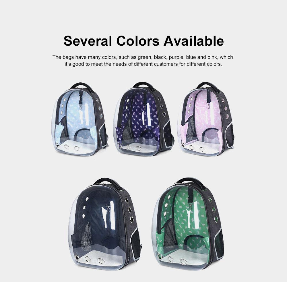 Transparent Knapsack for Pet Dog Cat APET Polyester Material with Vent Design Rucksack Tear-resistance Bag Durable Pack-sack 5