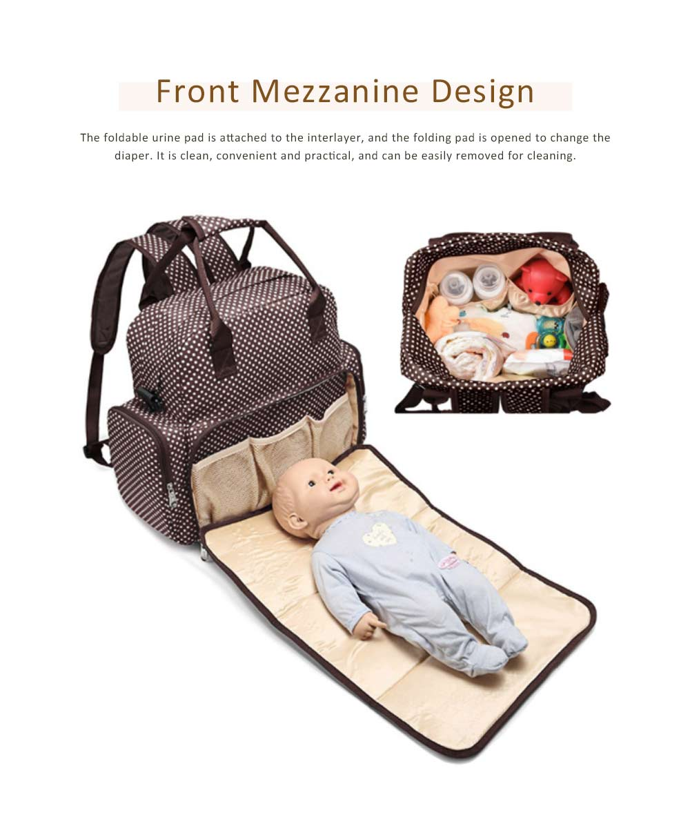 Oxford Cloth Diaper Bag Backpack for Maternal Pregnant, Travel Rucksack Casual Fashion Mummy Bag With Changing Mat 3