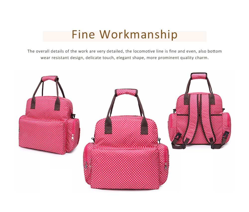 Oxford Cloth Diaper Bag Backpack for Maternal Pregnant, Travel Rucksack Casual Fashion Mummy Bag With Changing Mat 5