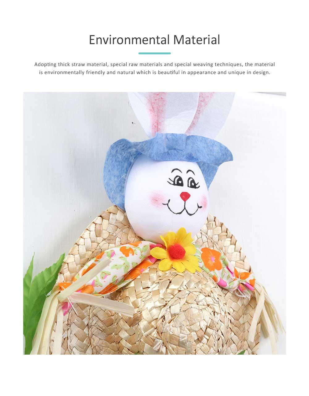 Straw Woven Bunny Hat Rattan Weaving Hat, DIY Handmade Bunny Hats for Easter Day Kids Children  5