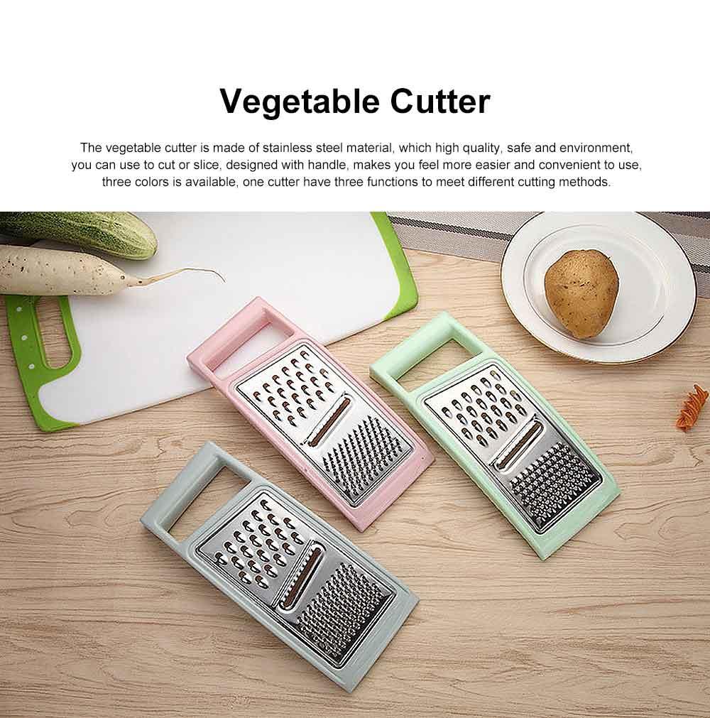 Stainless Steel Shredder Convenient Slicer, Three Cutting Methods Cutter Grater for Kitchen Tool 0