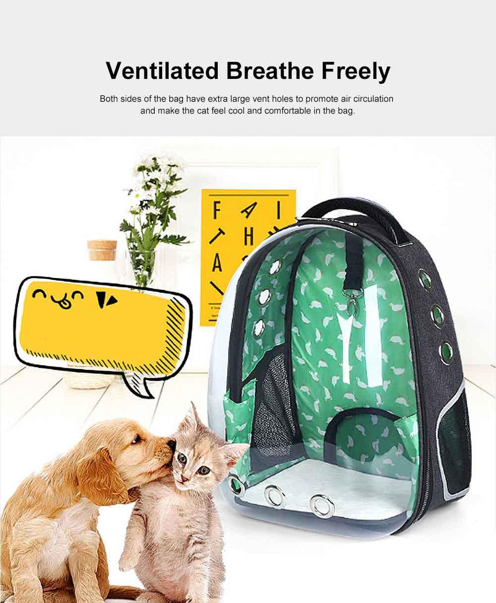 Transparent Knapsack for Pet Dog Cat APET Polyester Material with Vent Design Rucksack Tear-resistance Bag Durable Pack-sack 1