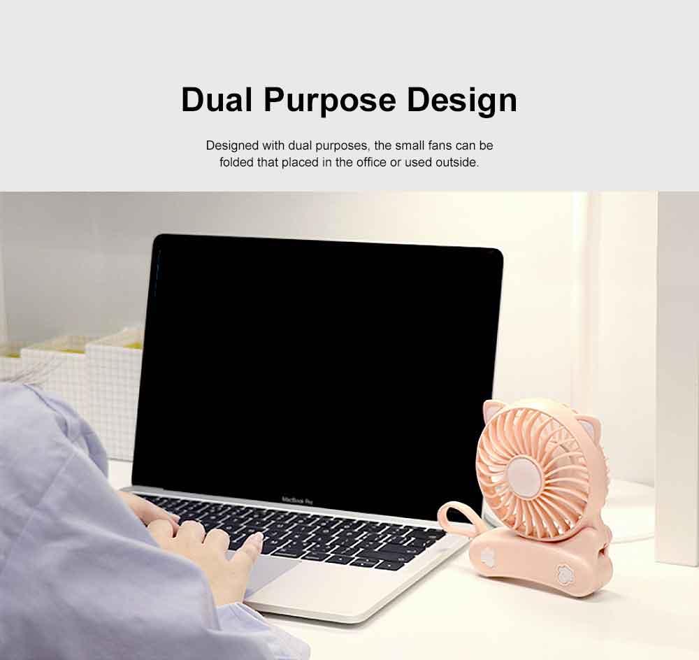 USB Fan Chargeable for Summer Day Kitty Shape Silence Portable Mini Fan 1