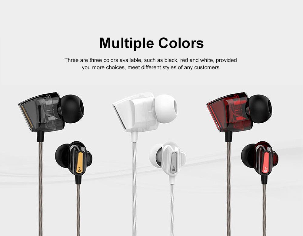 Wire Earphone Anti-pulling Wire Headset Comfortable Wearing HIFI Effect Earpiece Double Dynamic Earplug 1