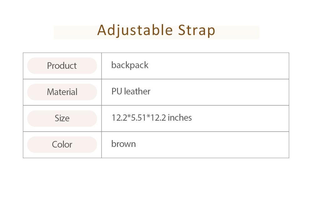 Casual Brown Backpack & Shoulder Bag, Vintage Style Multiple Pockets Large Bag for Travel, School 6
