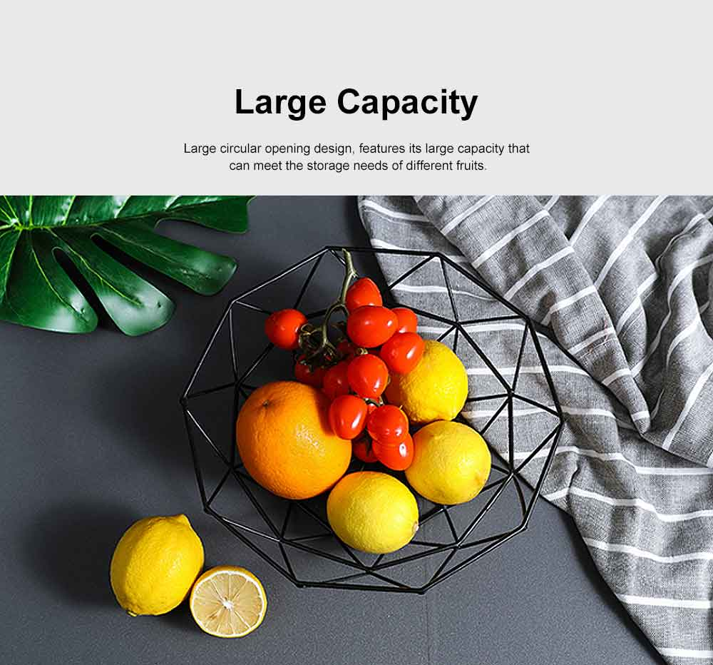 Iron Fruit Basket For Home Store Fruits Tray Line Design Bowl Simple Style Fruit Plate 3