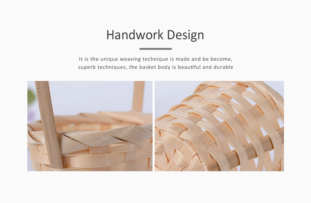 Mini Bamboo Woven Rattan Weaving Basket for Storage, Wedding as Decoration Tool and Shoot Decoration, DIY Handmade Flower Arrangement Basket 2