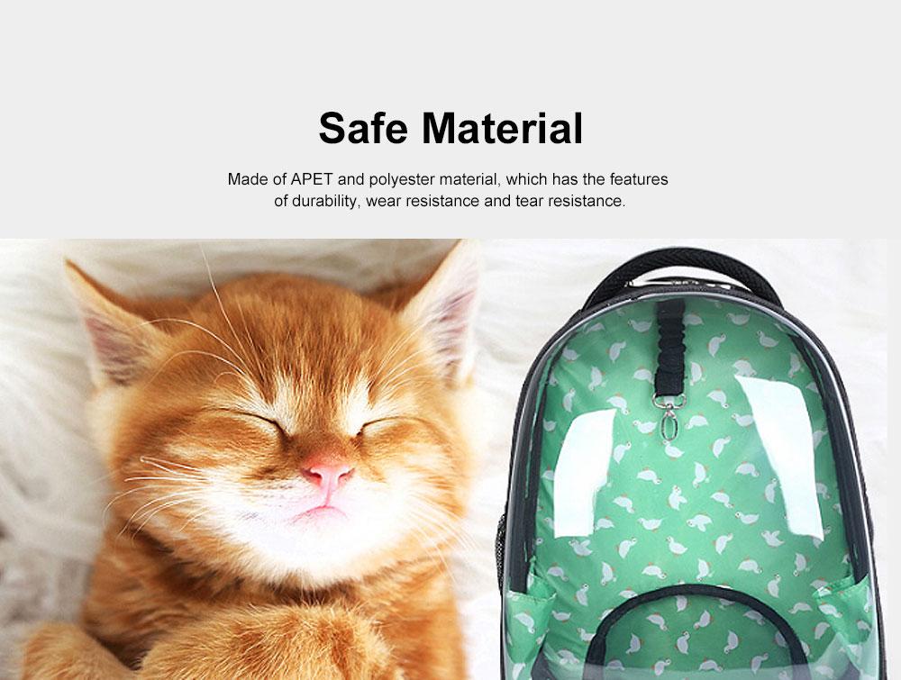 Transparent Knapsack for Pet Dog Cat APET Polyester Material with Vent Design Rucksack Tear-resistance Bag Durable Pack-sack 3