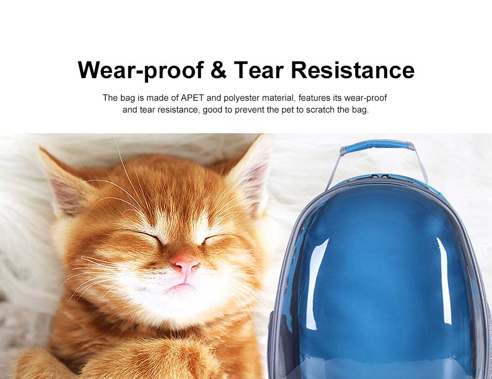 Pet Bag APET Polyester Backpack Breathable Knapsack for Cat Dog Tear-resistance Pack-sack Vent Rucksack 2