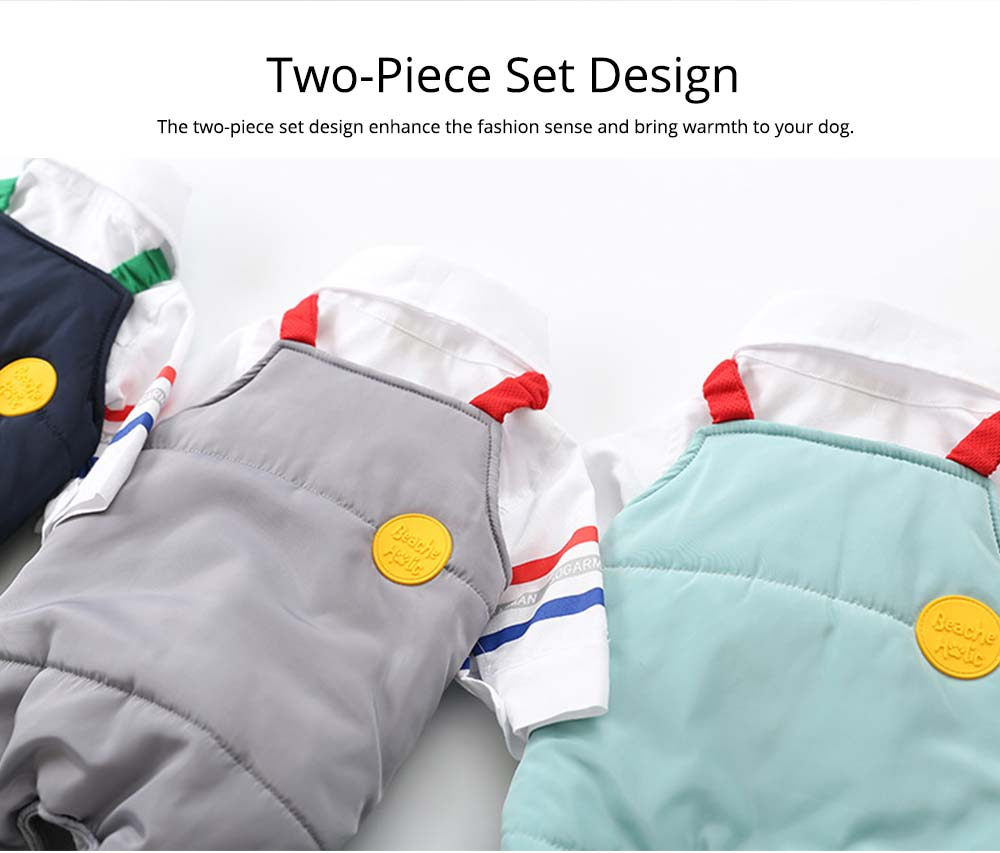 Pet Dog Clothes Two Pieces Set Straps Cute Cotton Trousers for Dog Shirt Suspender Autumn Winter New 2019 1