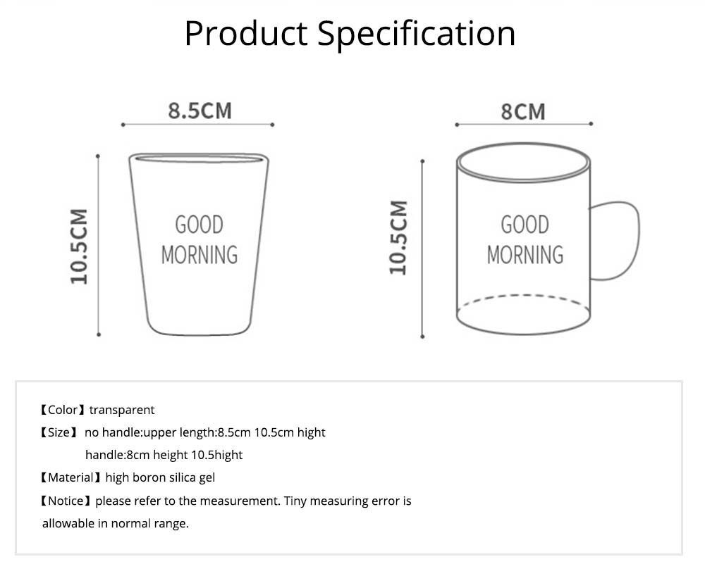 Washing Cup Set Transparent Letter Print Bathroom Washing Glass Cup Toothbrush Holder Cup Couple Mug 7