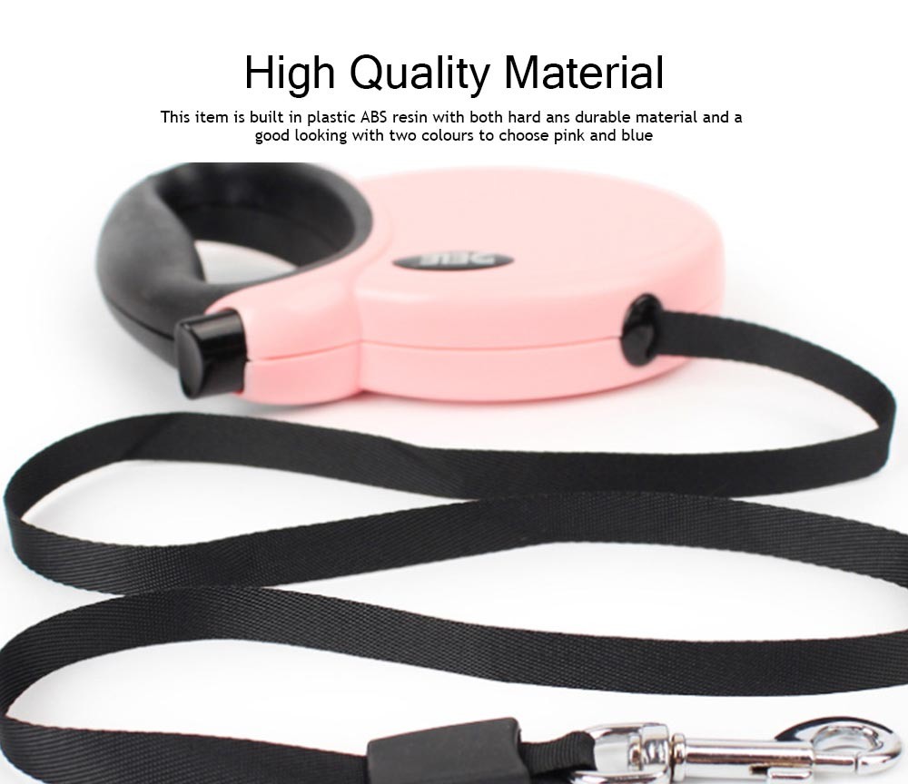 Hauling Cable Innoxious and Stretchable Small-sized Terylen and ABS Tow Rope for Pets, Auto Scaling Pulling Bandlet 1
