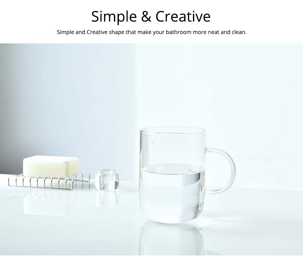 Glass Toothbrush Holder Bathroom Transparent Large Capacity Cup Korean Washing Cup Ins Treads Fashion Mug For Adult 6