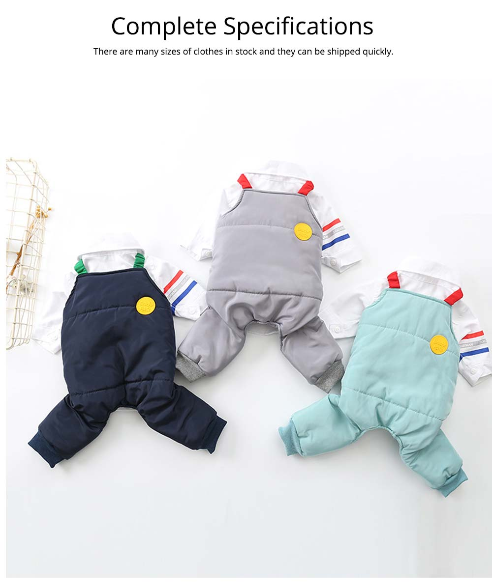 Pet Dog Clothes Two Pieces Set Straps Cute Cotton Trousers for Dog Shirt Suspender Autumn Winter New 2019 5