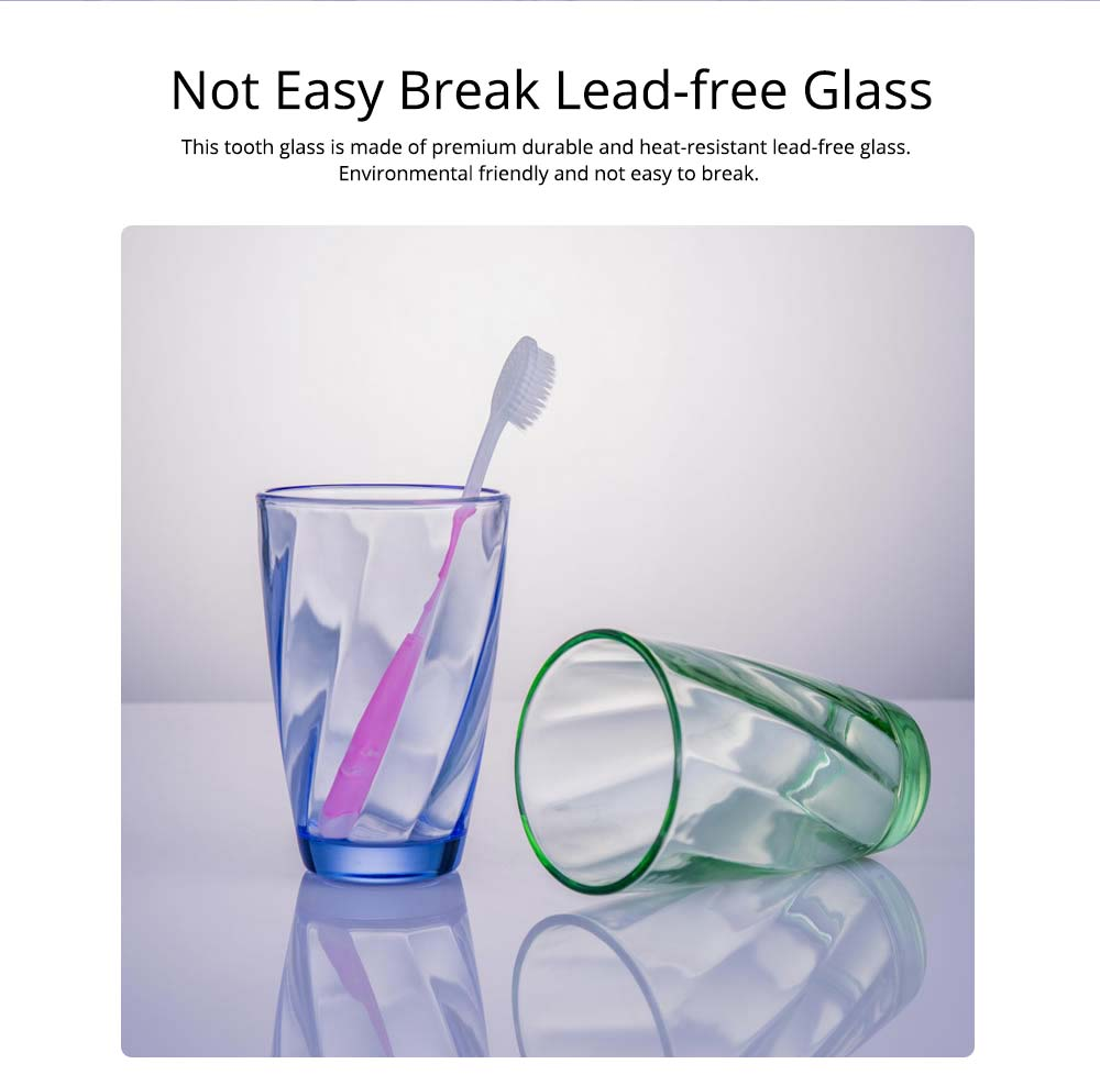 Simple Bathroom Glass Brushing Cup Cute Personality European Style Toothbrush Cup Creative Spiral Mug 1