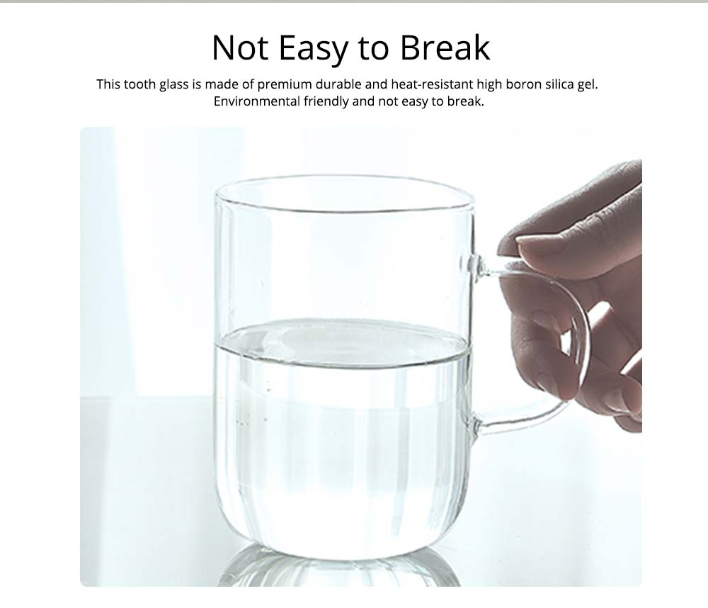 Glass Toothbrush Holder Bathroom Transparent Large Capacity Cup Korean Washing Cup Ins Treads Fashion Mug For Adult 1