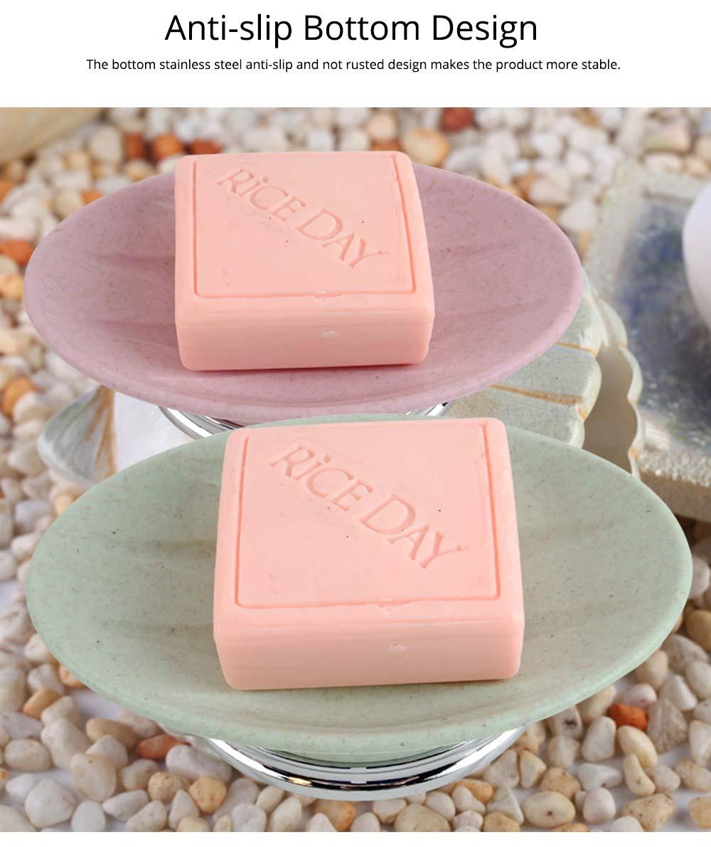 4 PCS Simple Fiber Wooden Bathroom Wash Supplies Set For Wedding Home Hotel 6