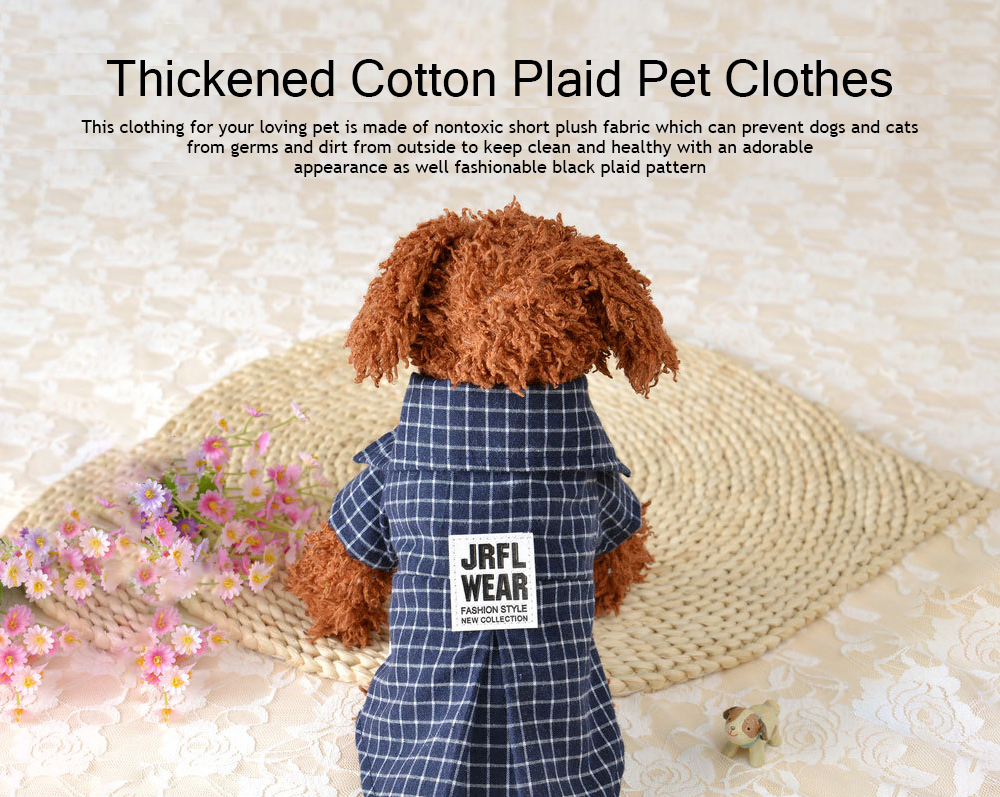 Fashionable Plaid Pet Clothing, Nontoxic and Fine Cotton Cloth for Pets, Dog and Cats Clothes Spring Summer 0