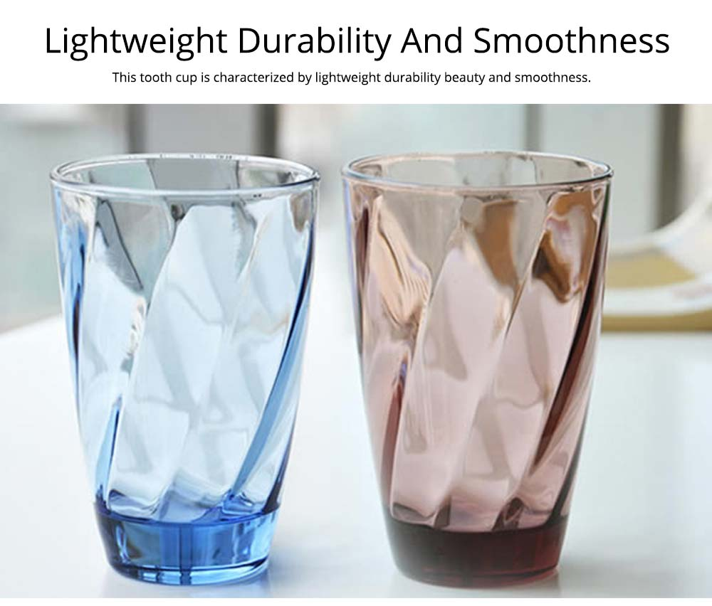 Simple Bathroom Glass Brushing Cup Cute Personality European Style Toothbrush Cup Creative Spiral Mug 6
