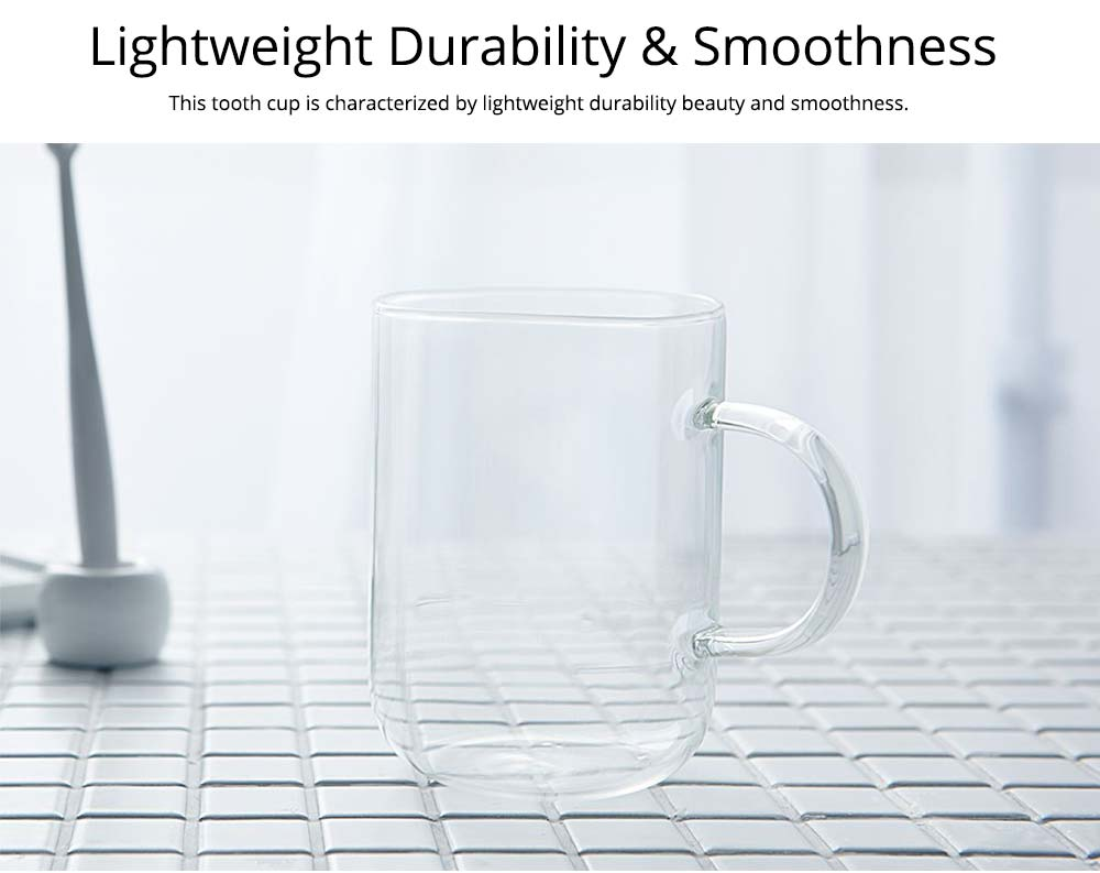 Glass Toothbrush Holder Bathroom Transparent Large Capacity Cup Korean Washing Cup Ins Treads Fashion Mug For Adult 4