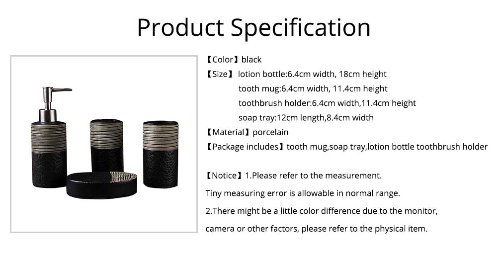 Creative Crack Pattern Hand-drawing European Style Ceramic 4 pieces Bathroom Supplies Set Accessories Tooth Mug Toothbrush Holder Soap Tray Lotion Bottle 6