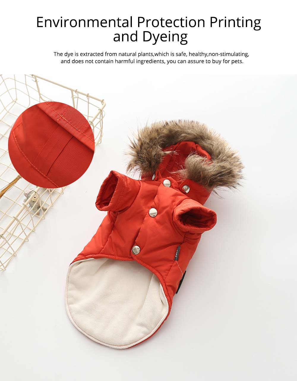 Pet Dog Clothes Two Legs Down Coat with Hat for Puppy Autumn Winter New Arrival 4