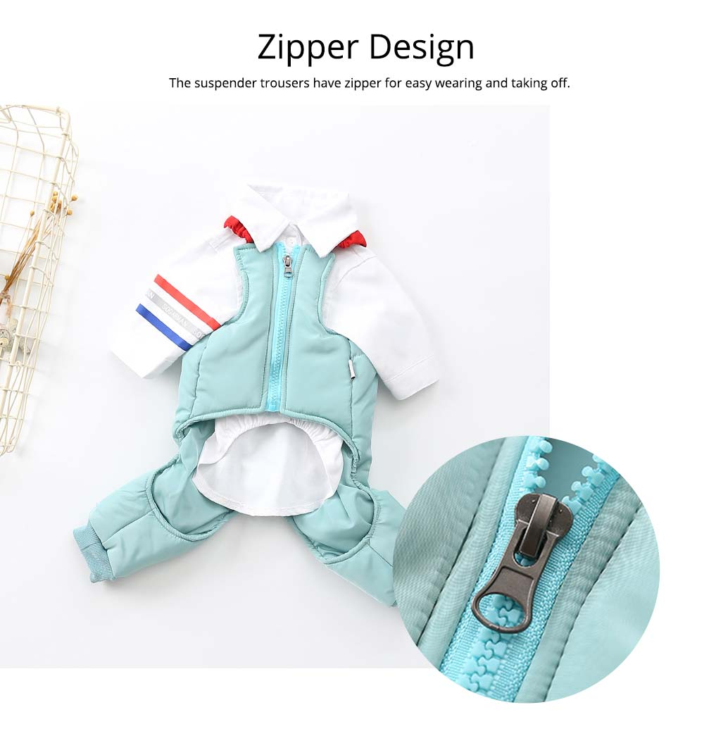 Pet Dog Clothes Two Pieces Set Straps Cute Cotton Trousers for Dog Shirt Suspender Autumn Winter New 2019 2