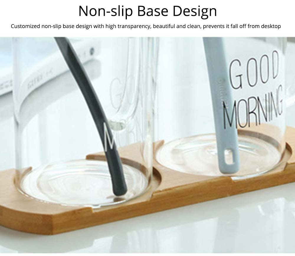 Washing Cup Set Transparent Letter Print Bathroom Washing Glass Cup Toothbrush Holder Cup Couple Mug 6