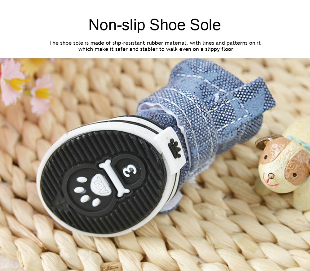 Pet Plimsolls with Star, Warm Pet Shoes for Dogs, Cats, Small Animals, 2019 Spring Winter Essential Pet Shoes 2