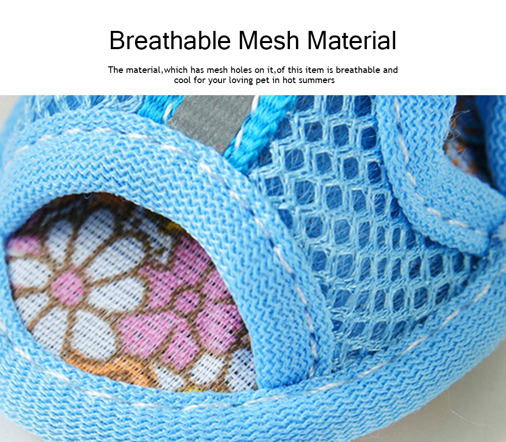 Fashionable Pet Sandals, Comfortable Breathable Mesh Paw Protectors for Spring Summer 2019 2