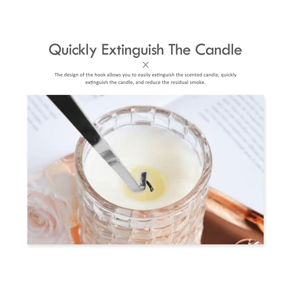 Electroplated Bright Chrome Flat Wick Hook, Curved Candle Hook Wick Hook, Stainless Steel Candle Tool For Pick Candle Core 5