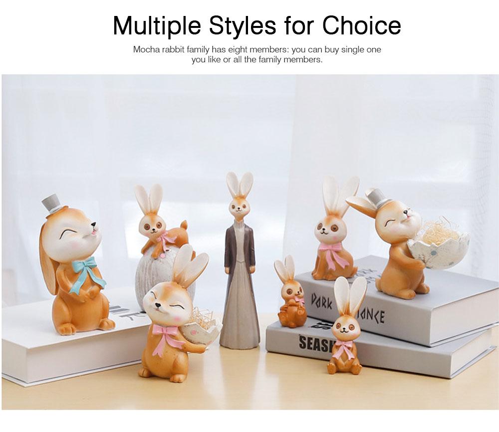 Mocha Rabbit Decorations for Home Creative Cartoon Resin-made Mocha Rabbit Lovely Decoration 5
