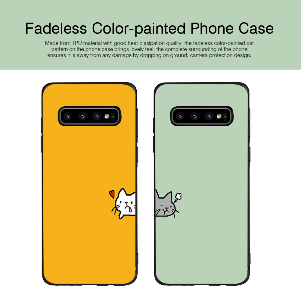 Soft Phone Case for Galaxy S9 Plus, Silicone S10 Plus Protective Phone Case S8 Plus Color Painted Phone Case 0