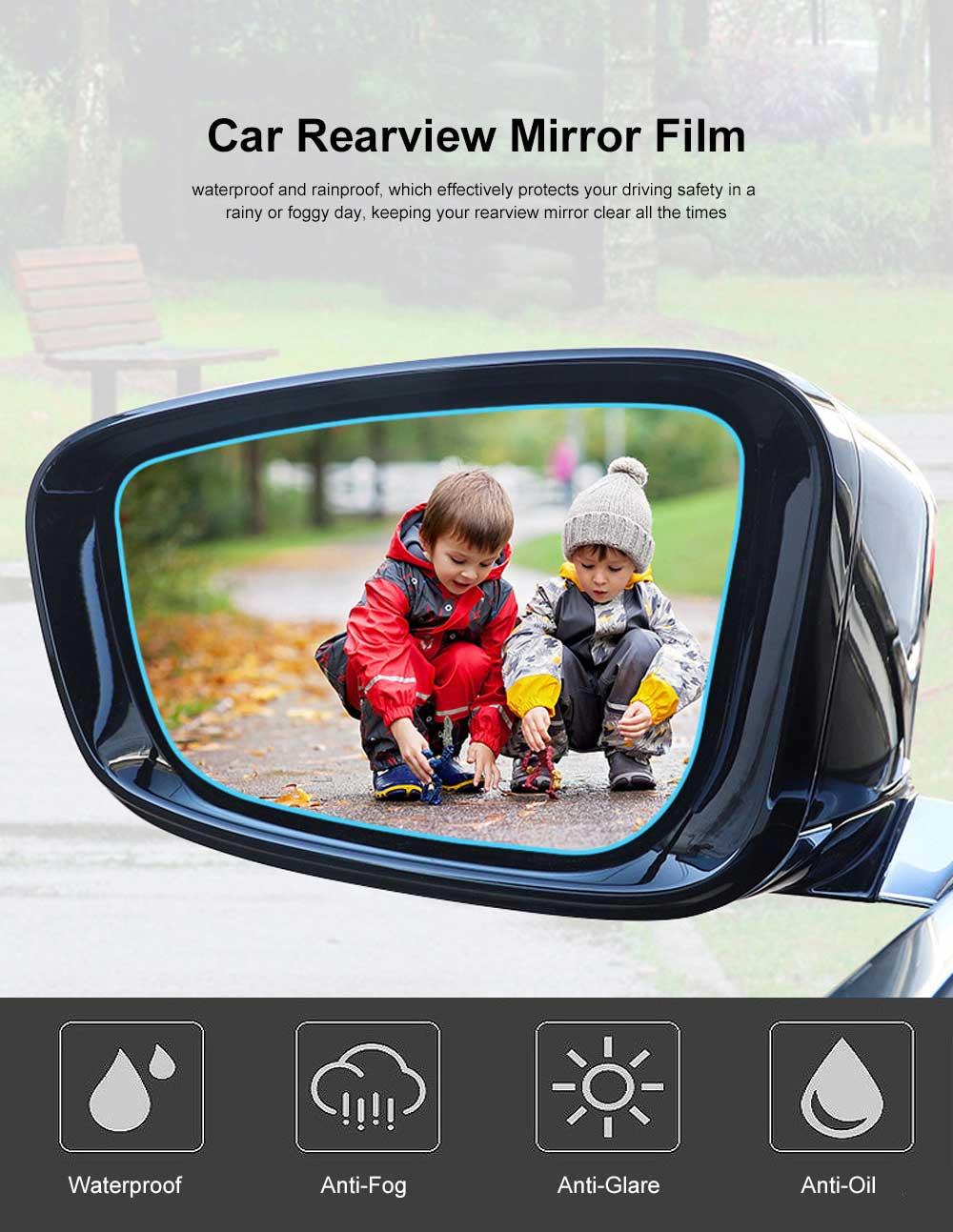 Car Rearview Mirror Protective Film Waterproof Film Anti-Fog HD Anti-Glare Clear Protective Film for Audi A3 A4L A5 A6L Q3 Q5 Q7 0