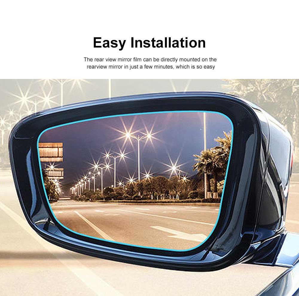 Car Side View Mirror Anti-Glare Film Rear View Mirror HD Rainproof Waterproof Membrane for Benz Rearview Mirror Side Window 3