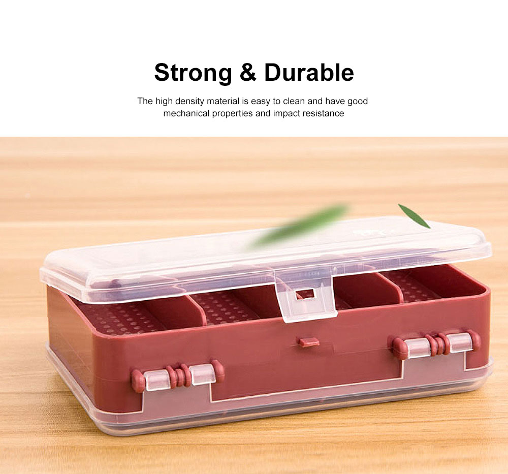 Pill Organizer Case Portable Box Small Container for Bag Travel Business Trip Excellent Weekly Pill Storage Case 3