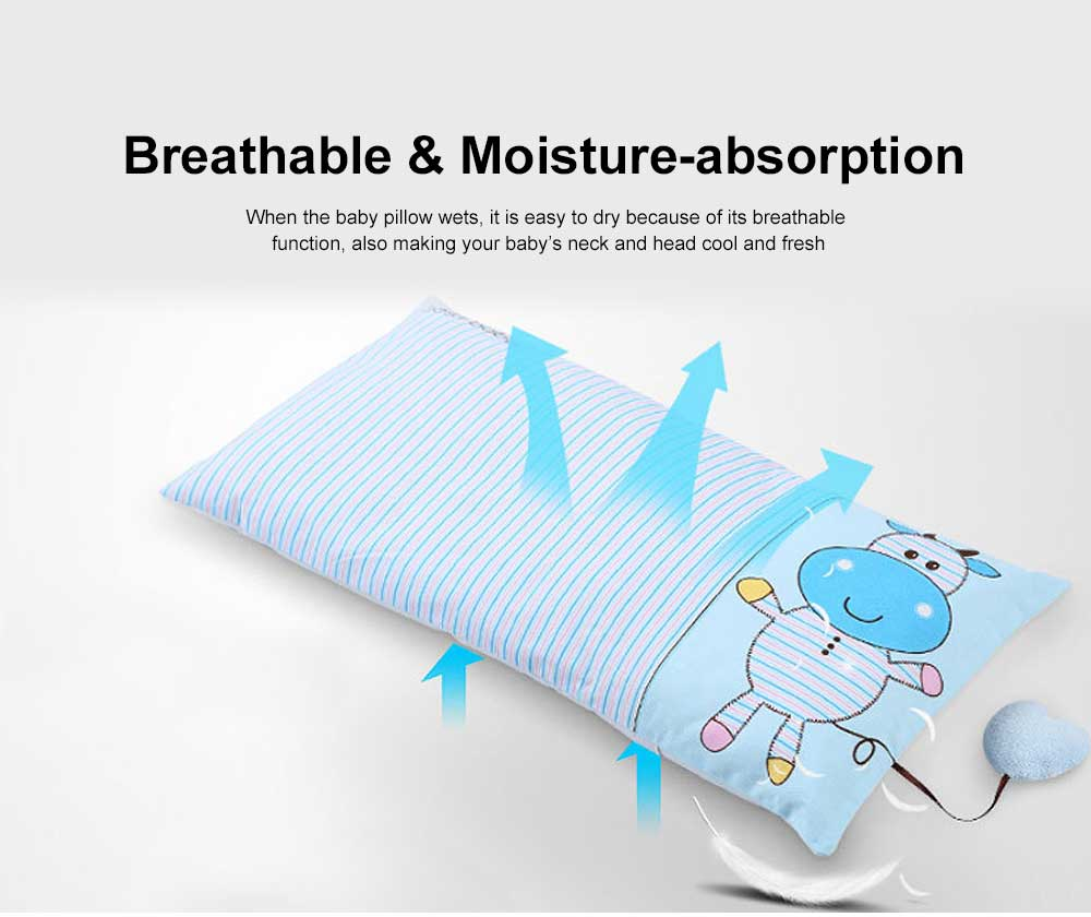 Cute Pattern New Born Baby Pillow Rectangle Plagiocephaly Prevention Breathable Soft Pillow 5