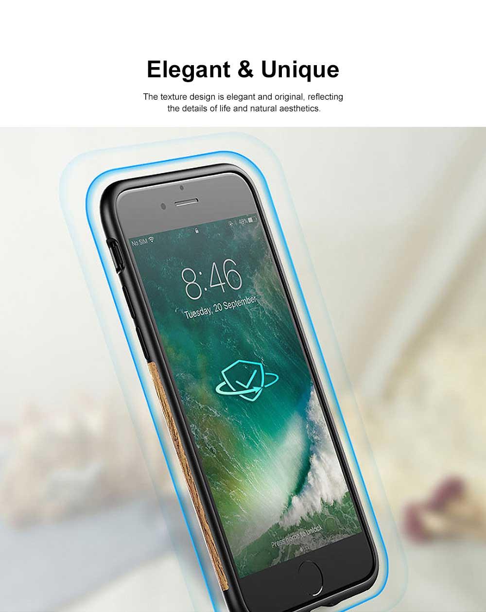 Silicone Anti-fall Phone Case, Fashion Original Phone Case, Wood-made Phone Case for iPhone XS Max, X, XS, 7 Plus, 8 Plus, 7, 8, 6, 6s, XR 2
