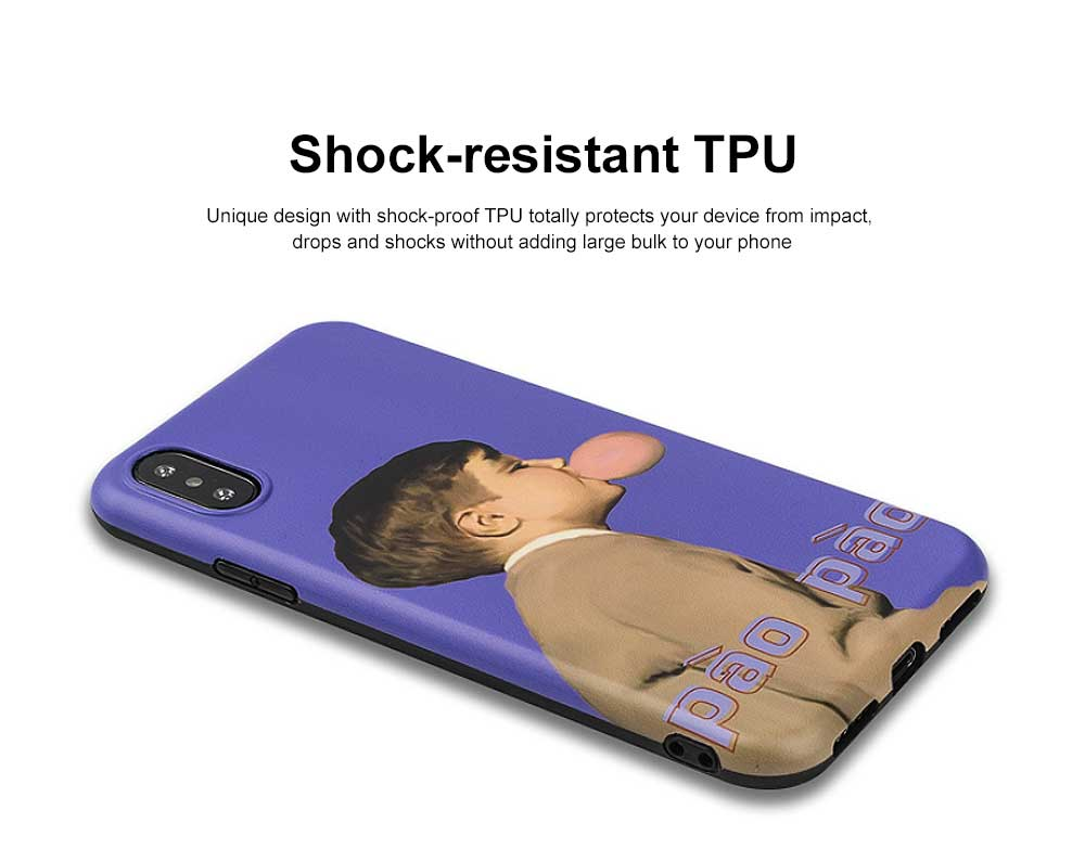 Soft TPU Purple Boy Case Shockproof Drop Resistant Protective Cute Lovely iPhone Case 1