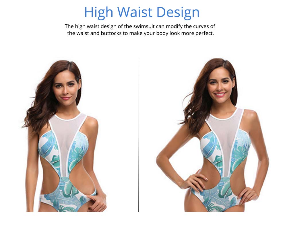 Swimsuit for Women Western Style Polyester Fiber High Waist Mesh Sexy Bikini Fashionable Bathing Suit 2019 2