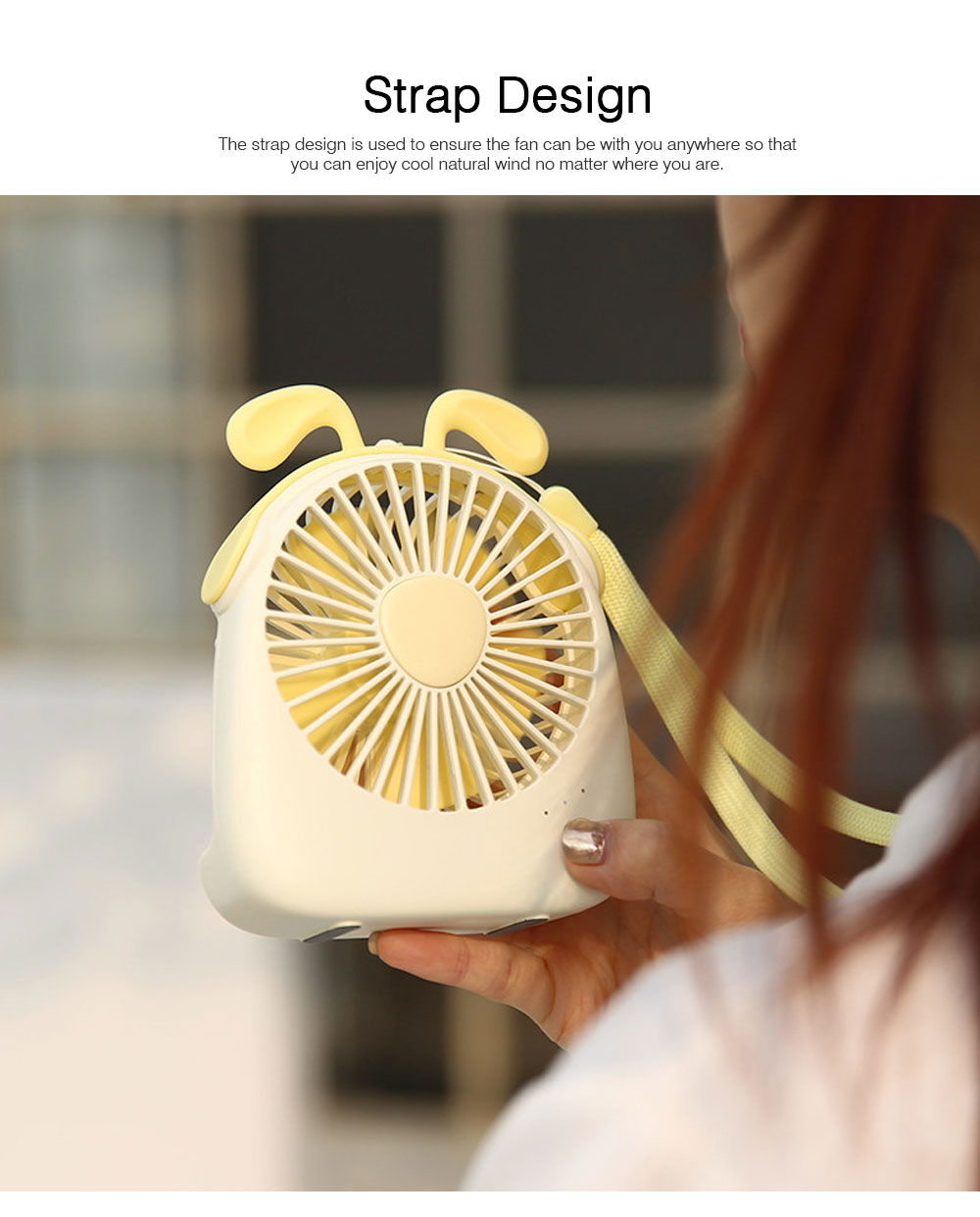 USB Lovely Mini Fan Portable Handheld Power Charged Mini Fans Plug In with Lights Girls Mini Fan 6