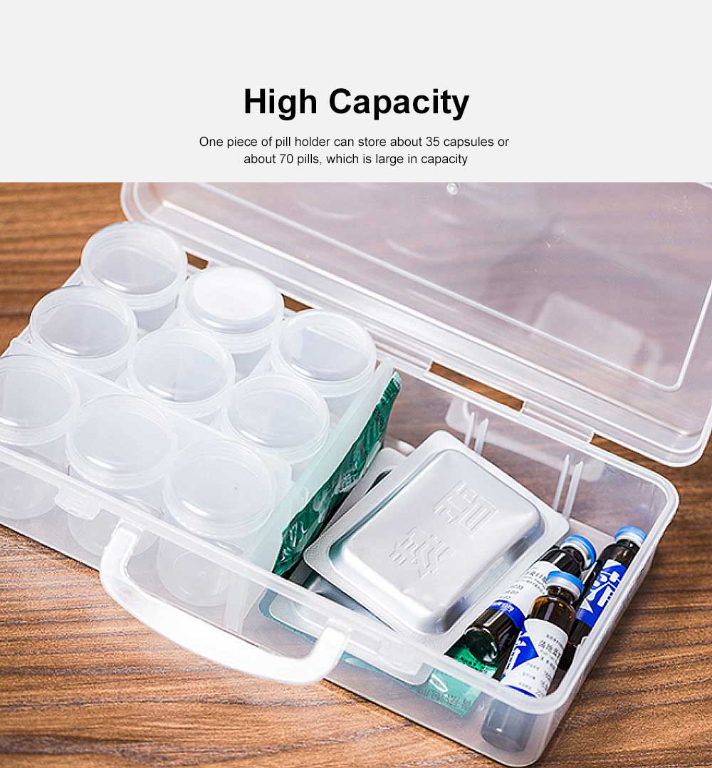 Sealed Multifunctional Liquid Powder Bottle Transparent Storage Case with Lids High Capacity Organizer 2