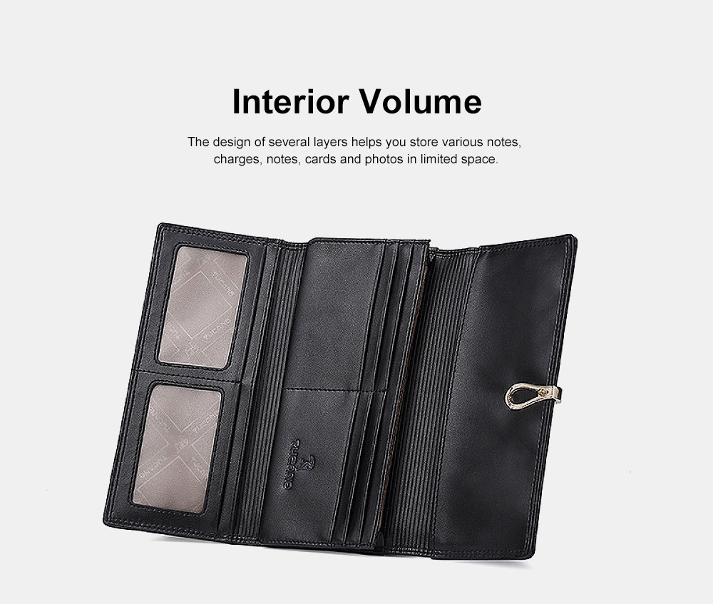 2019 Women's New Purse , Korean-style Vertical Genuine Bills Money ID Card Credit Wallet Purse, Fashion Handbag Clutch Purse 3