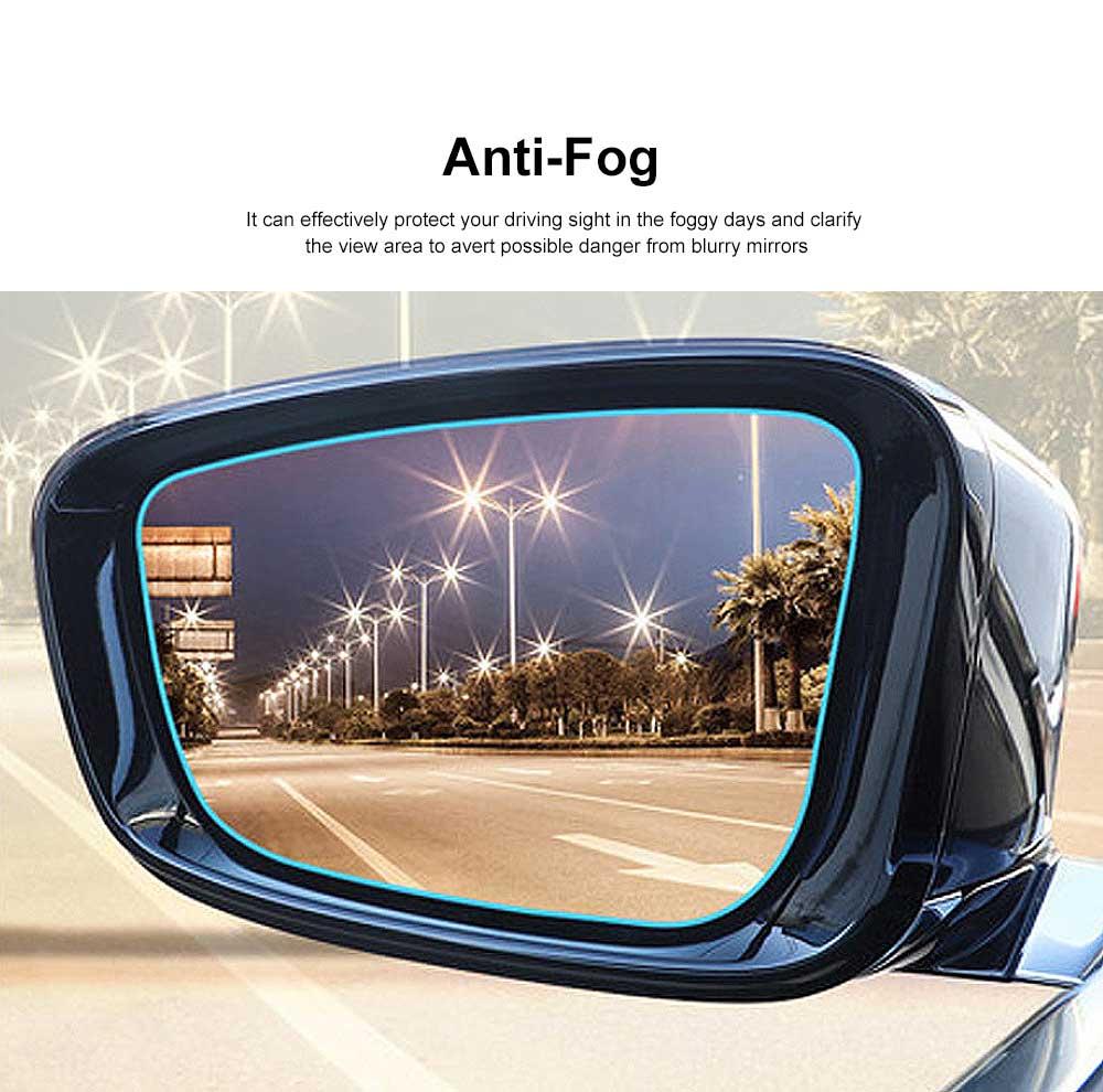 Car Rearview Mirror Protective Film Waterproof Film Anti-Fog HD Anti-Glare Clear Protective Film for Audi A3 A4L A5 A6L Q3 Q5 Q7 3