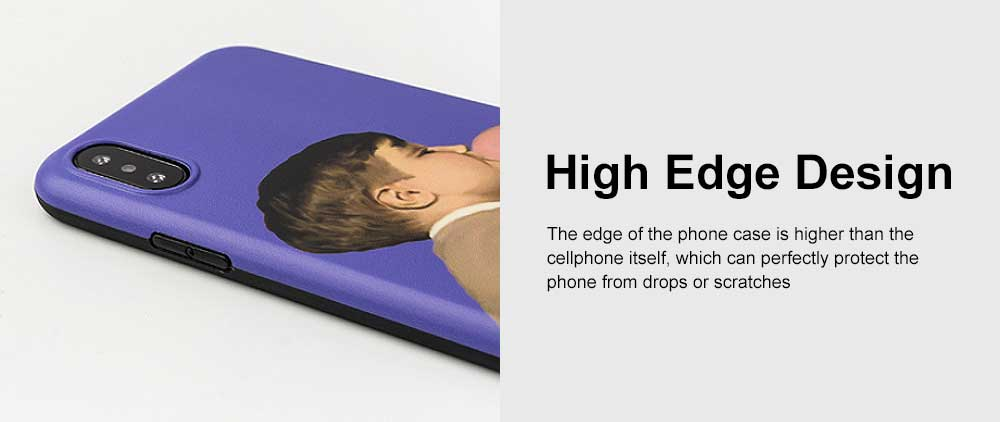Soft TPU Purple Boy Case Shockproof Drop Resistant Protective Cute Lovely iPhone Case 4