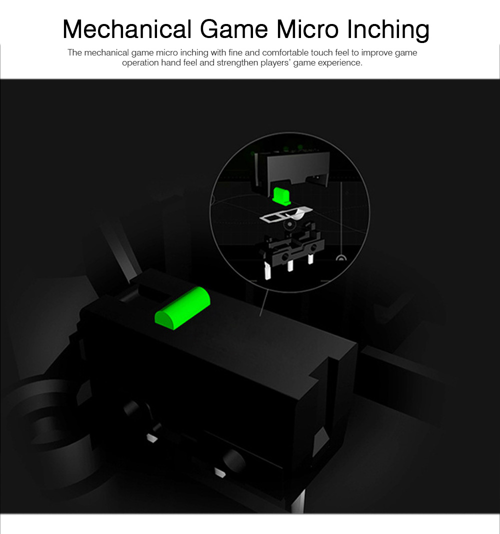 Mechanical Mouse for PUBG Game Optical Mouse Wireless Opto-mechanical Mouse Wired Mouse 1