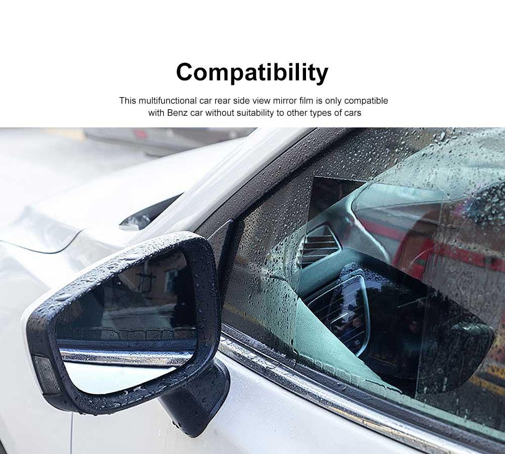 Car Side View Mirror Anti-Glare Film Rear View Mirror HD Rainproof Waterproof Membrane for Benz Rearview Mirror Side Window 5