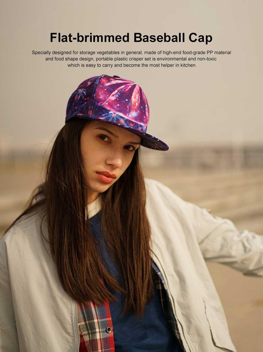 Korea-style Hip-pop Cap, Flat-brimmed Baseball Cap 0