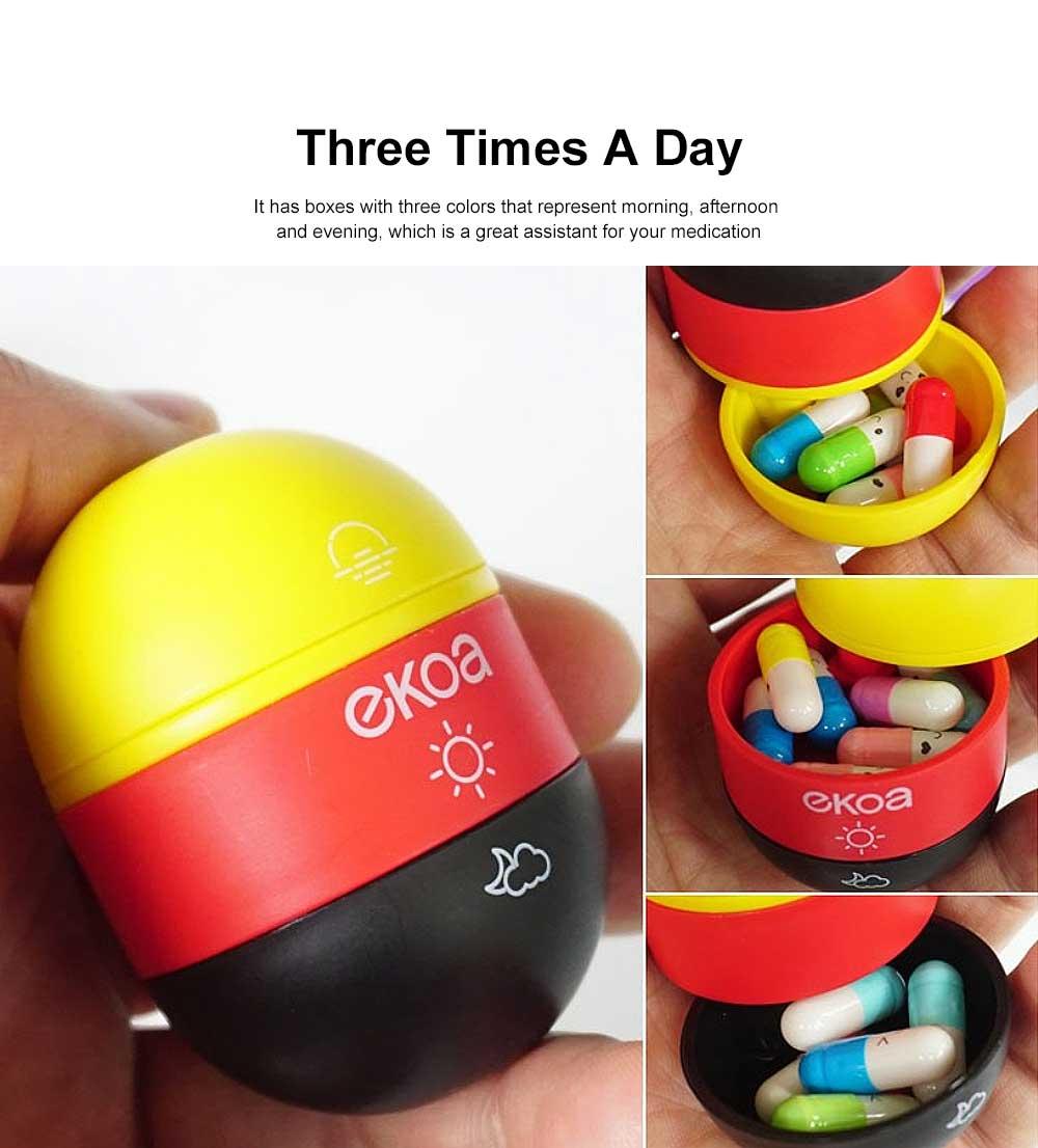 Japanese Carry-on Pillbox Capsule Shape Cute Pill Organizer Portable Pill Case for Vitamin Medicine 3