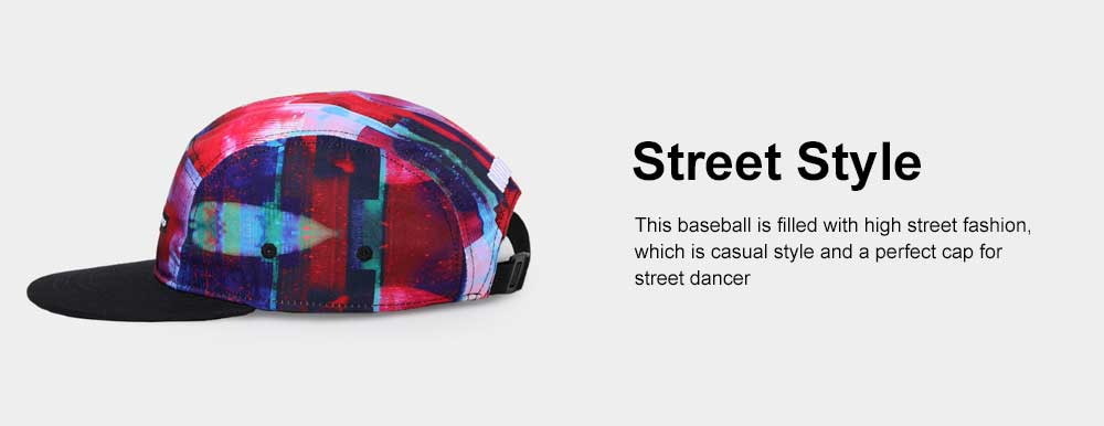 New Colorful Doodle Baseball Cap Women Men Street 3D Printing Hip Pop Cap 3